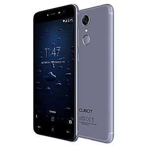 CUBOT Note Plus 4G Unlocked Smartphone 5.2 Inch FHD 1920*1080P Screen Android 7.0 MTK6737T 3GB RAM+32GB ROM 1.5GHz Quad Core 16+16MP Cameras 2800mAh Notification Light Fingerprint Phone (Blue)