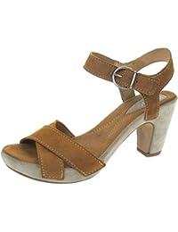 Khrio - Zapatillas de caña alta de cuero mujer