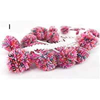 AiCheaX Lace Crafts - 3Yards Pom Pom Tassel Lace Trim Ribbon Ball Fringe Fabric Lace Decor DIY Material Clothing Bags Curtain Sewing Craft Accessories - (Color: 1)