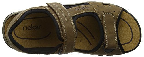 Rieker 25084 Sandals-Men, Herren Sandalen, Braun (zimt/schwarz/24), 47 EU -