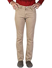 Denim Vistara Men's Khaki Colored Comfort Fit Jeans