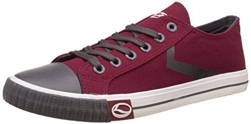 Lancer Men's Wine and Dark Grey Sneakers - 6 UK/India (40 EU)(YSM-L-902)  available at amazon for Rs.699