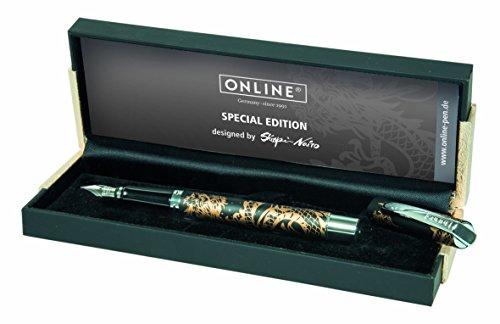 Online - Pluma estilográfica, color Dragon Spirit Black