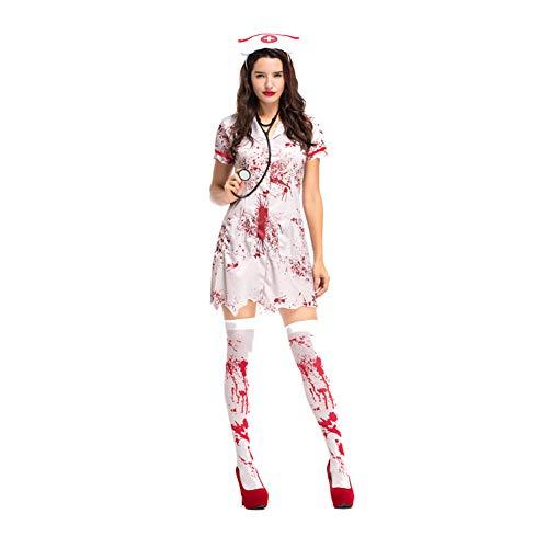 MTSBW Halloween Bloodstain Krankenschwestern Bühne Kostüme Ghost Outfits -