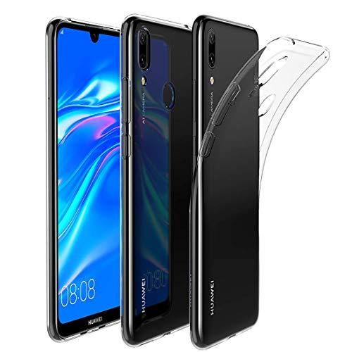 QULLOO for Huawei Y7 2019/Huawei Y7 Prime 2019 Hülle Cover TPU Hülle Schutzhülle Crystal Case Durchsichtig Klar Silikon transparent (Transparent)