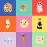 Robert Kaufman Bunter Stoff mit Essen Tieren Gegenständen