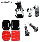 Action Pro Front Helmet Mount for Gopro 7 6 5 3 4 Session Yi 4K SJCAM SJ5000x Action Camera Accessories Kit Curved...