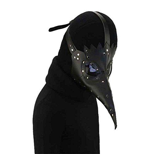 Homedecoam PU Leather Mask Plague Doctor Mask Halloween Props Steampunk Kostüm Schnabelmaske Mittelalter Pest-Maske Doktor Arzt (Maske Kostüm Schnabel)