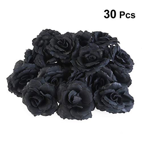 ünstliche schwarze rosen für diy hochzeit hause bouquets mittelstücke baby shower party dekoration ()