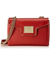 Love Moschino - Borsa Calf Pu Rosso, Bolsos baguette Mujer, Rot (Red), 18x28x8 cm (W x H D)