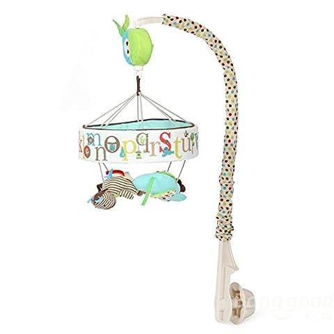 Mark8shop Baby Kids Clockwork Bed Hanging Rattle Musical Crib Mobile Alphabet Zoo Toys