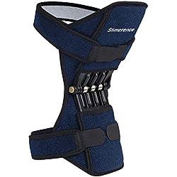 Slimerence Knie-Booster, Power Lift Knieschützer-Booster Gelenkstützen mit starker Rückprall-Federkraft zur Linderung von Gelenkschmerzen, Ideal für Sport Klettern Ausbildung, Dunkelblau