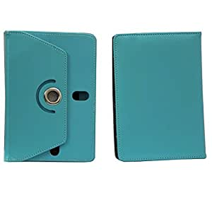 Jo Jo Rotating Flip Flap Case Cover Pouch Carry For Alcatel One Touch T10 Light Blue