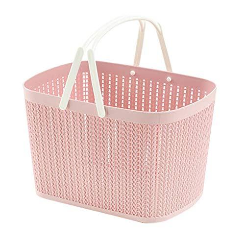 2 x DuschKörbchen Für Badezimmer, Mit Henkel, Aufbewahrungskorb Aus Kunststoff Für Badzubehör - Shampoo, Kosmetik Und Andere Beauty Produkte - PP,Pink
