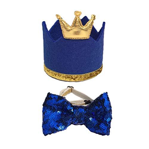 �ckende Katze Hund Haustier Geburtstag Party Hut mit Bowknot Cosplay Kostüm Zubehör Headwear (Blau) ()