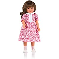 The Doll Factory The Doll Factory29.20102.29106 Brown Wavy Hair with Red Flower Dress and Jacket