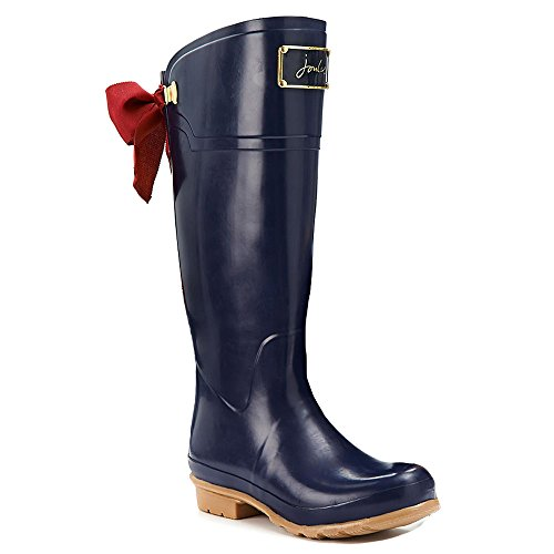 Joules Evedon Wasserfest Regen, Schnee, Damen Gummistiefel, EU 35-42/UK 3-8 Dunkelblau