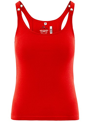 oodji Collection Donna Canotta Vogatore Rosso (4500N)
