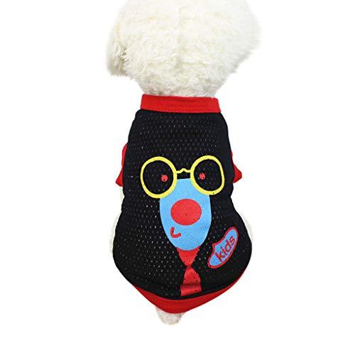 Hunde Warnwesten,Shirt für Hunde,friendGG Sommer Hund T-Shirt Haustier Kleider Bekleidung Atmungsaktiv Weste Kostüme