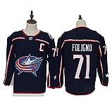Yajun Nick Foligno?71/Sergei Bobrovsky?72 Columbus Blue Jackets Eishockey Trikots Jersey NHL Herren Sweatshirts Damen T-Shirt Bekleidung -