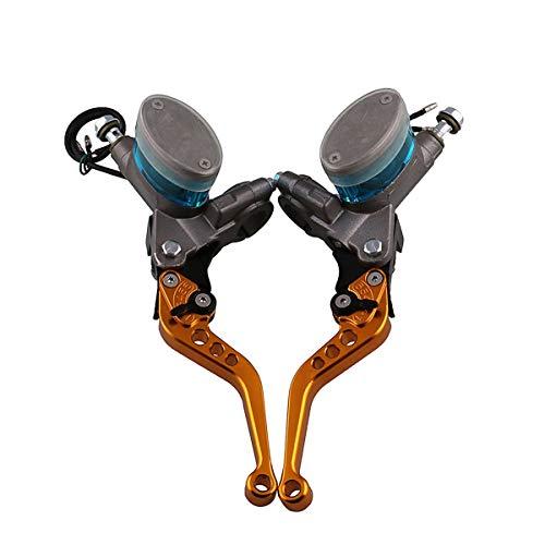Motorrad Fuß Hydraulische Kupplung Linke und rechte Bremse Obere Pumpe Universalbremse Handbremshebel Motorrad Geändert YHWCUICAN -
