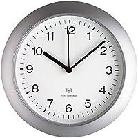TFA 981089 - Reloj de pared controlado por radio, color plateado