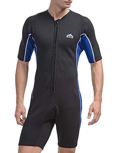 besbomig Neoprenanzug Damen Herren 2mm Ganzkörper Surfanzug Warm UV Schutz Overall Wetsuit Shorts - Strand Schwimmanzug Tauchanzug