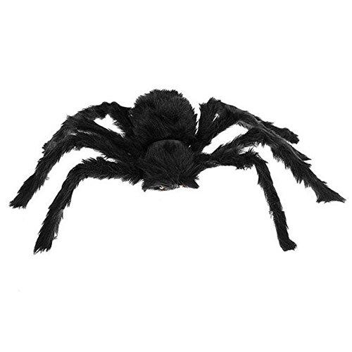 Vi.yo 50CM Große gefälschte Spinne Plüsch Puppet Prank Witze Spielzeug Halloween Party Dekorationen Stützen Kinder Spielzeug Schwarz
