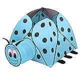 Tente pour Enfants, Jardin intérieur et extérieur, Tente de Jeux, Tente de Jeux, Coccinelle, Bleue, 120 * 120 * 100cm