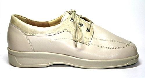 Ganter Karin Vario Protect 1-205741 Damen Schuhe Halbschuhe, Weite K Weiß (porzelan)