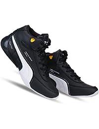 Zenwear Men's Lace-Up Black Sports Shoes