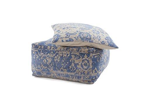 Hocker Sitz-Würfel & Kissen Vintage Design Paramount Pouf & Cushion Set 410 Bean Bag Ornament Muster Viskose Braun/Sitzsack günstig Online kaufen