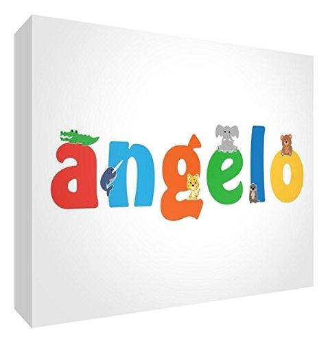 Little helper lhv-angelo-a6blk-15it pannello decorativo neonato/battesimo idea regalo, disegno personalizzabile con nome da ragazzi angelo, multicolore, 10.5 x 14.8 x 2 cm