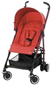 Maxi-Cosi 13043867 - Mila, Buggy und Travelsystem, mit komfortabler Liegeposition, inklusiv Sonnenverdeck, Regenverdeck und Adapter für die Maxi-Cosi Babyschale, Intense Red