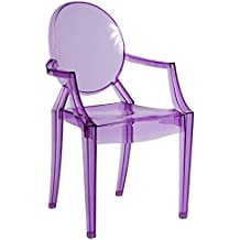 Decorit Clair Transparent Ghost Moderne Style Louis Chaise De Salle A Manger Salon Nombreuses Couleurs