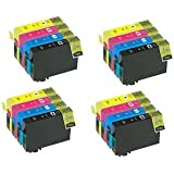 4 SETS X 16XL Compatible High Capacity Cartridges for use with Epson WorkForce WF 2010W, WF 2510WF, WF 2520NF, WF 2530W NON OEM