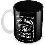 Tuelip Jack Daniel's Classic Style Full Black Printed Ceramic Tea And Coffee Ceramic Mug, 350ml, White