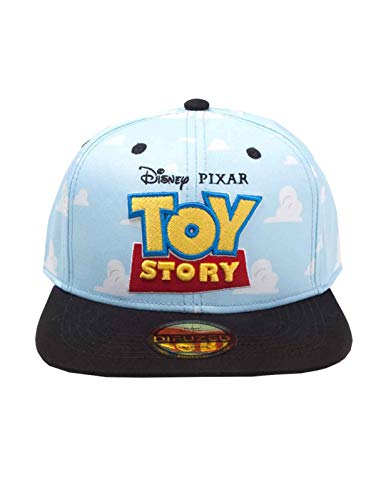 Disney Toy Story Embroidered Logo with All-Over Clouds Snapback Baseball Cap, Unisex, Blue/Black (SB751882TOY) Toy Story T-shirts