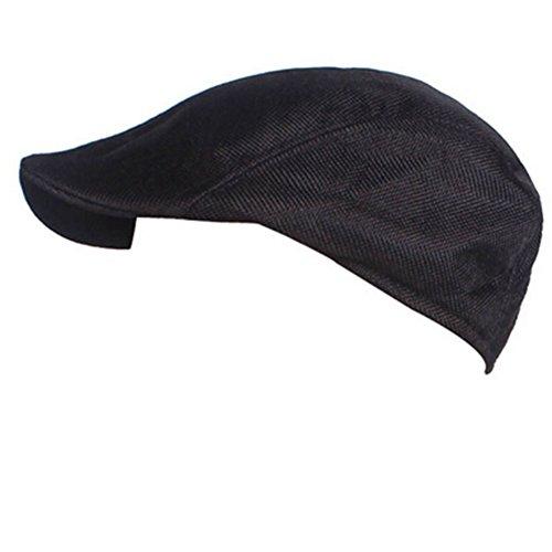 Sommer Frauen Schwarz Für Hüte (Fletion Unisex Atmungsaktiv Sonnenschutz Baskenmütze Herren Damen Vintage Schirmmütze Schiebermütze Beret Kappe)