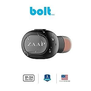 ZAAP Bolt Bluetooth 4.1 Mini Headset Wireless Headphone/Earbud Universal Compatibility [Grey]
