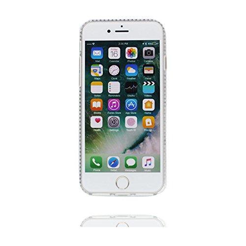 "iPhone 7 Coque Case , Glitter Bling Sparkles Flowing Liquid Anti Scratch Hard Protective Étui iPhone 7 Cover 4.7"" - Sexy Lèvres rouges # 4"