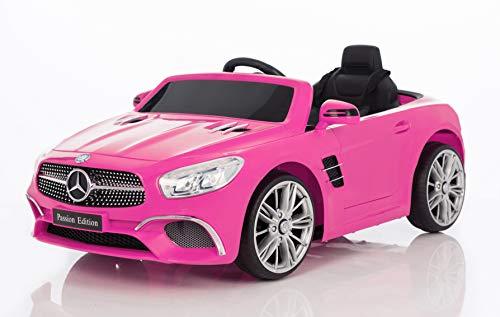 BC BABY COCHES Coche eléctrico niños 12v con Mando Mercedes SL400 (Rosa)