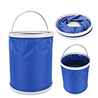 Alomejor Folding Bucket Folding Fishing Bucket Oxford Cloth Portable Water Barrel for Outdoor Fishing Hiking Travel with Large Capacity(13L)