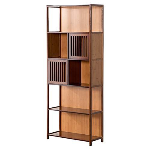 ikales Holz Bücherschrank, Vintage Dekoration Multifunktionale Mit staufach Veranstalter-Rack Verdickt Für datensätze & bücher-A 70x29.5x175cm(28x12x69inch) ()