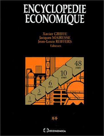 Encyclopédie économique - Tomes 1 et 2