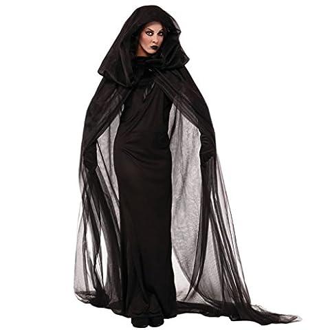 Ranboo Frauen Fancy Dress Halloween Kostüme Kostüme mit Gaze Mantel Handschuhe
