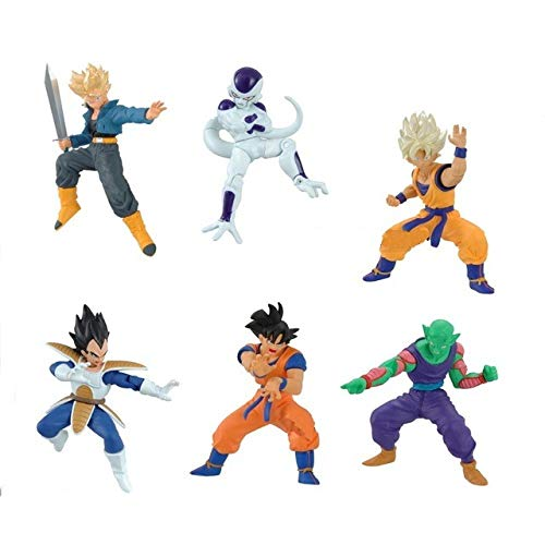 Raro Conjunto Completo 6 Figure Dragon Ball Action Pose Serie 01 HG Plus BANDAI Gashapon