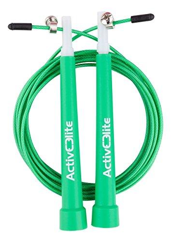 #ActiveElite – Profi Springseil für Sport & Fitness für Boxen, Crossfit, MMA, WOD – BONUS Transporttasche#