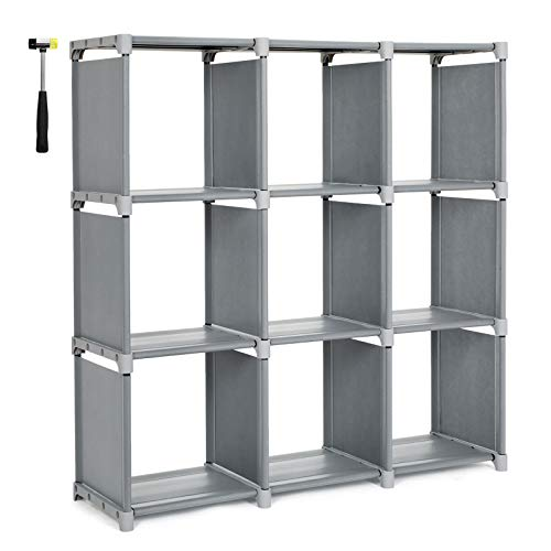 SONGMICS Estantería Modular Librería Abierta con 9 Cubos Armario de Almacenamiento para...