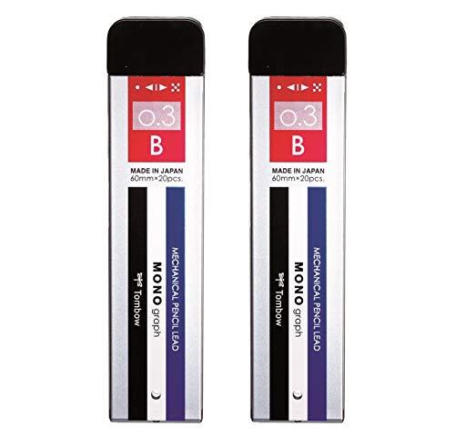 Tombow Mono Graph Mechanical Pencil Lead - B 0.3 mm - 20 Leads Tube - Black Lead Color